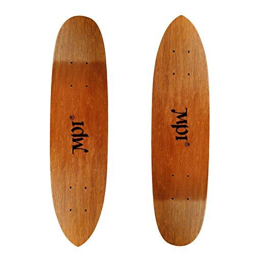 Vintage NOS 2-PACK MPI Old School Skateboard Deck Dark Wood Kicktail Cruiser - Kicktail Skateboard Deck