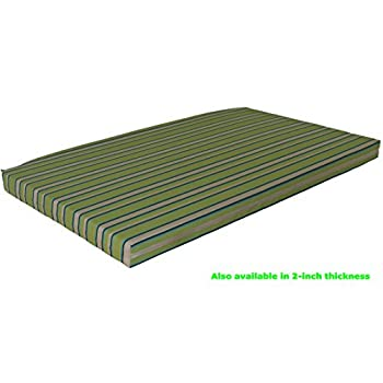 Image of Aspen Tree Replacement Cushion for 6' Daybed Swing Bed Outdoor Cushions Day Beds 72' Swingbed Bed Swings Swinging Porch Beds and Outside Pallet Mattress, 68' L Many Color Choices