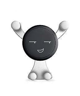 SODIAL Nuevo Sostenedor de telefono inteligente de salida de coche Soporte para telefono movil Sostenedor de ventilacion de aire universal Sostenedor de telefono del coche sin magnetico plata