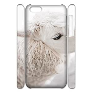 Lycase(TM) Alpaca DIY 3D Phone Case, Alpaca Iphone 5C Hard Back 3D Case