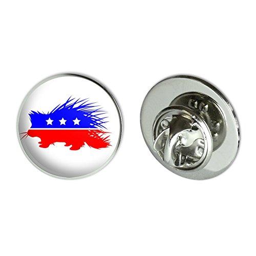 GRAPHICS & MORE Libertarian Party Porcupine Metal 0.75