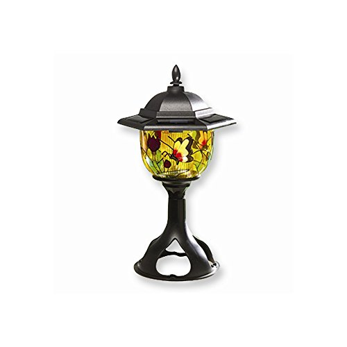 (Perfect Jewelry Gift Tiffany Style Solar Outdoor Light)