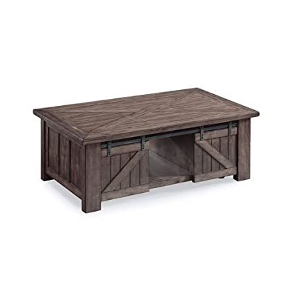 Magnussen Garrett Lift Top Coffee Table In Weathered Charcoal