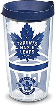 Tervis NHL Toronto Maple Leafs Topshelf Topself 16 oz Tumbler with lid, 16oz, Clear