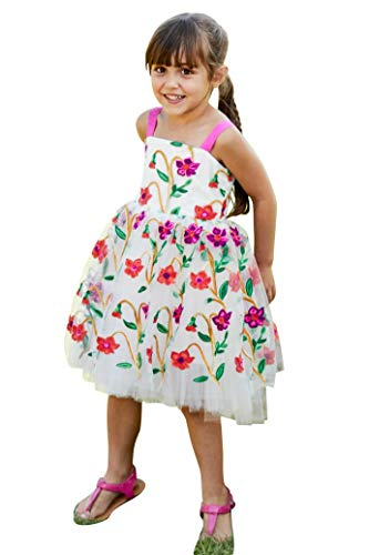 Chasing Fireflies Girls Pop Flowers Dress