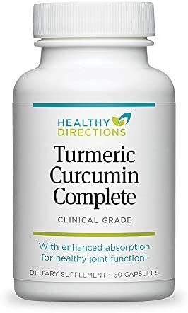 Healthy Directions Turmeric Curcumin Complete Supplement for Joint Pain Relief and Antioxidant Support, 60 softgels 30-Day Supply