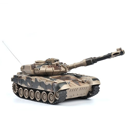 GizmoVine RC Panzer Russland T90 1:28 Maßstab - Ferngesteuertes Kampfpanzer Spielzeug Tank für Kinder, Jungs 27Mhz - Tarnung