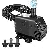 Best Fountain Pumps - Winkeyes 800GPH Fountain Pump, 70W Outdoor Fountain Pump Review