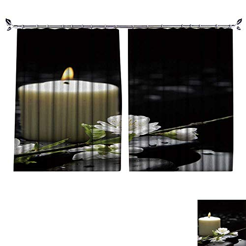 r Curtain Burning Candle with Spring Apricot Blossom and Stones Suitable for Living Room. W96 x L96 ()