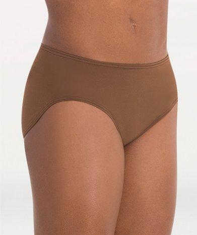Body Wrappers Adult Bikini-Cut Panty 264DNUL Dark Nude Large