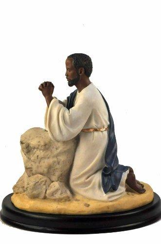 Ebony Treasures Jesus Praying At Gethsemane Figurine: African American