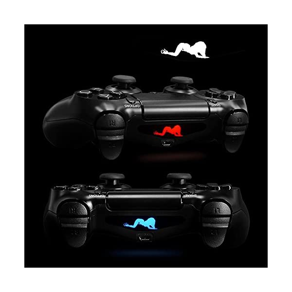 eXtremeRate Light Bar Decal Stickers Set of 30 Different Pcs for PS4 Playstation 4 PS4 PS4 Slim PS4 Pro Controller… 7