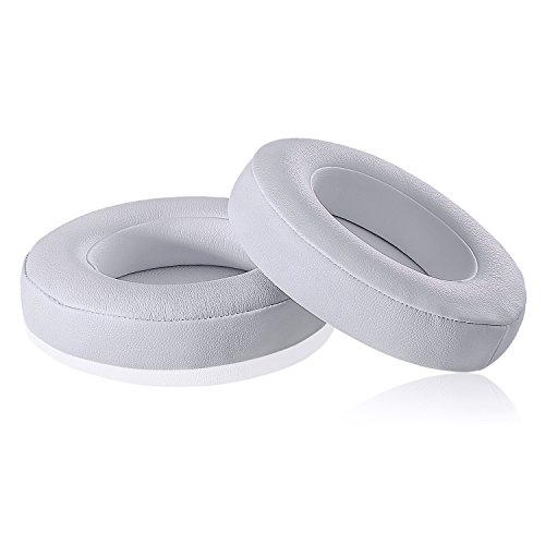 Studio 2.0 Replacement Earpads - JECOBB Ear Cushion Pads with Protein Leather & Memory Foam for Beats Studio 2 Wired/Wireless, B0500 / B0501 Over-Ear Headphones by Dr. Dre ONLY (White)