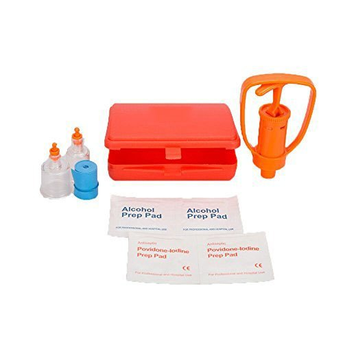 SOMAN Emergency First Aid Supplies Venom Suction Pump Extractor Bite and Sting Kit Poison Remover Snake Insect Outdoor Camping
