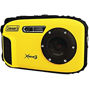 Coleman C9WP-Y Xtreme3 20 MP Waterproof Digital Camera with Full 1080p HD Video (Yellow)