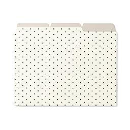 Kate Spade New York File Folders, Set of 6, Bikini Dot (164141)