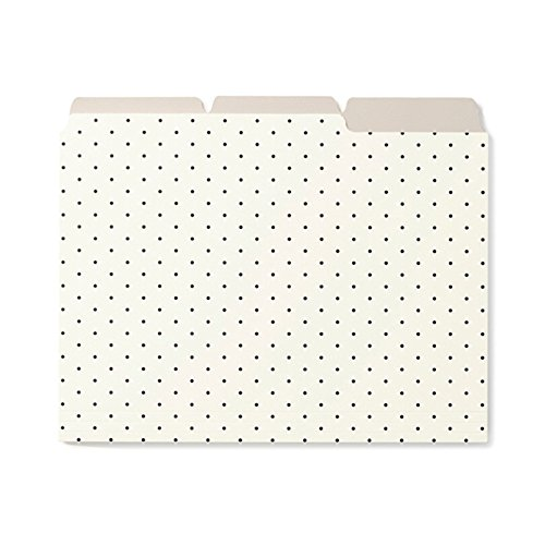 Kate Spade New York File Folders, Set of 6, Bikini Dot (164141)