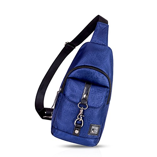 FANDARE Sling Bag Crossbody Bag Bolsas Gimnasio Mochila Ciclismo Excursionismo Bolso Senderismo Deportes Hiking Bag Gym Bolso Bandolera Mochila Hombre Hombro Las Mujeres Poliéster Negro Azul
