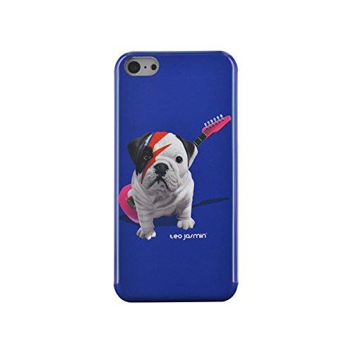"""BigBen Teo Jasmin Hülle """"Stardust"""" in blau für Apple iPhone 5/5S/5C"""