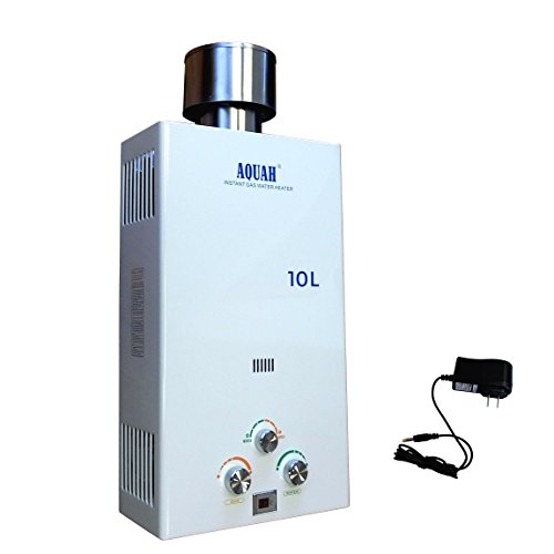 AQUAH Outdoor Liquid Propane Gas Tankless Water Heater 10 L / 2.7 GPM ()