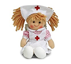 Plush 10 inch Nurse Nellie Doll Adorable Toy For Little Nurses