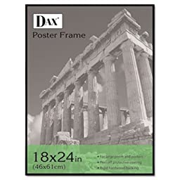 DAX N16018BT Coloredge Poster Frame with Plexiglas Window, 18 x 24, Clear Face/Black Border