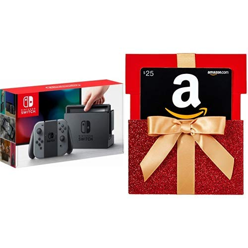 Amazon.com: Nintendo Switch - Gray Joy-Con with Gift Card in ...