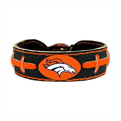 Leather Denver Broncos Bracelets - Denver Broncos Team Color NFL Football Bracelet