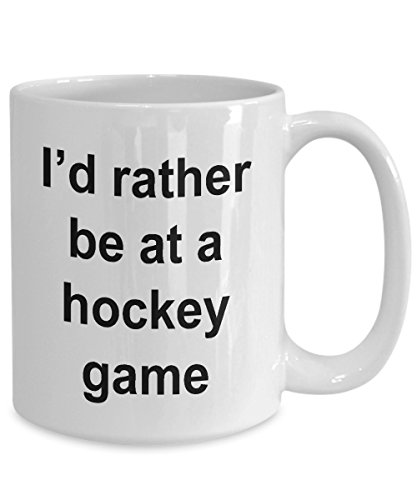 (Hockey Game Fun Fan Coffee Tea Mug - 11 Ounce White)