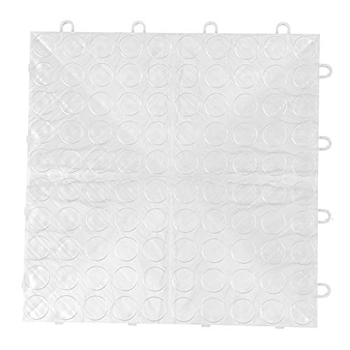 IncStores Coin Grid-Loc Garage Flooring Snap Together Mat Drainage Tiles (48 Pack, Arctic White)
