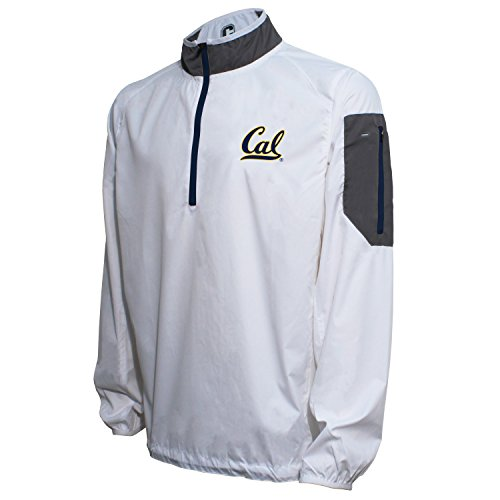 Crable NCAA California Golden Bears Men's Lightweight Windbreaker Pullover, White/Navy, Large Cal Golden Bears Mens Jacket