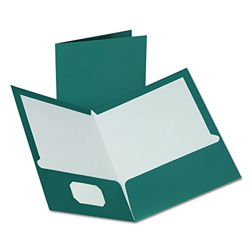 Oxford 5049561 Metallic Two-Pocket Folders, Teal, (Oxford Two Pocket)