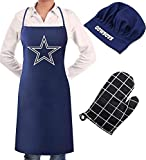 NFL Apron Chef Hat Oven Mitts Set for Oakland