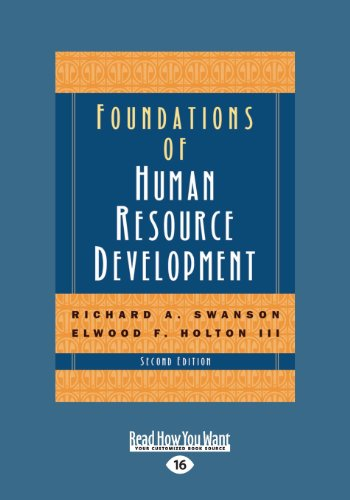 Foundations of Human Resource Development (2nd Edition) Vol-1 (Large Print 16pt)