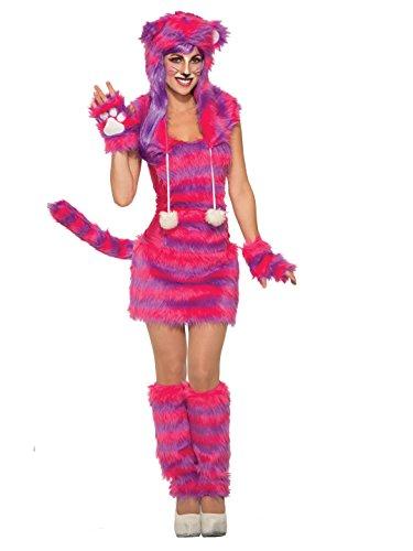 Forum Women's Cheshire Cat Deluxe Costume with Corset Top, Pink/Purple, STD