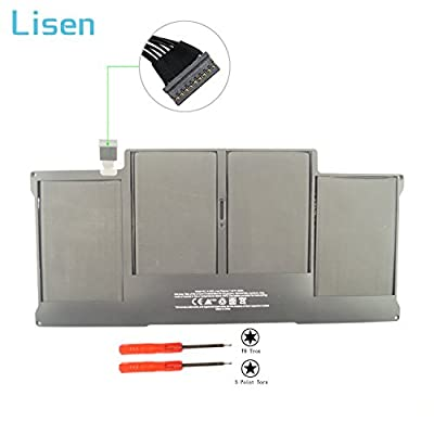 Lisen A1405 Laptop Battery for Apple MacBook Air 13 Inch A1466(Mid 2012 Mid 2013 Early 2014 Early 2015) A1369(Late 2010 Mid 2011),Fits A1377 A1405 A1496 661-5731 MC503 MC504 020-7379-A[50Wh/7000mAh] by Lisen®
