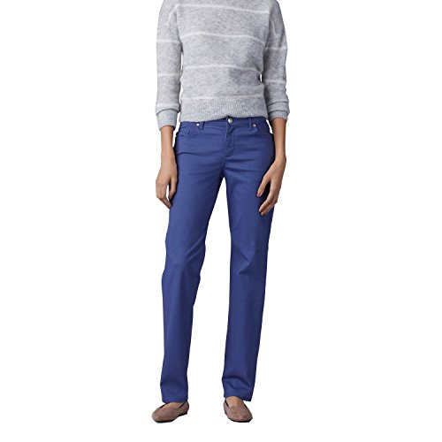 LEE Women's New Relaxed Fit Straight Leg Stretch Jean, Pier - 20 x - Rise Bull Mid