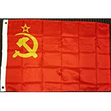 USSR Flag Soviet Union Russian Communist Party Banner Communism Pennant 2x3 Foot
