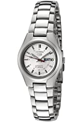 Seiko Women's SYMC21 Seiko 5 Automatic Silver Dial Stainless Steel Watch