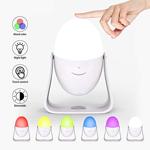 (Night Light for Kids, Children Night Lamp, Shake Shake Color Changing Kids Lamp USB with Touch Sensor, Dimmable Warm White Light, Baby Night Lamp Bedside)