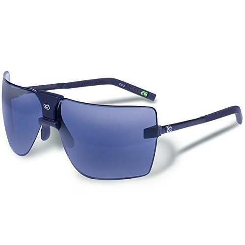 Gargoyles Performance Eyewear Classic Polarized Safety Glasses, Matte Black Frame/Smoke with Blue Mirror - Sunglasses Gargoyles