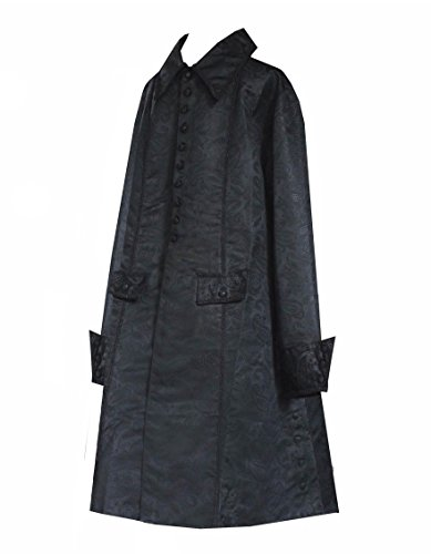 [Victorian Vagabond Historical Steampunk Gothic Pirate Brocade Renaissance Jacket (M/L)] (Victorian Era Mens Costumes)