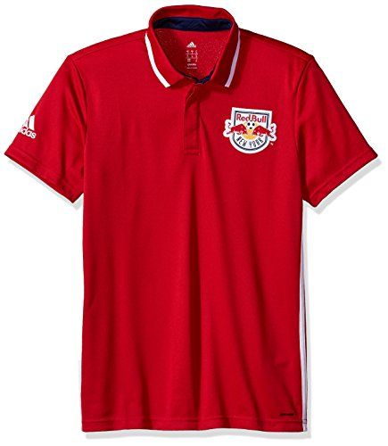 adidas MLS New York Red Bulls Men's Sideline Team Color Polo, Medium, Red by adidas