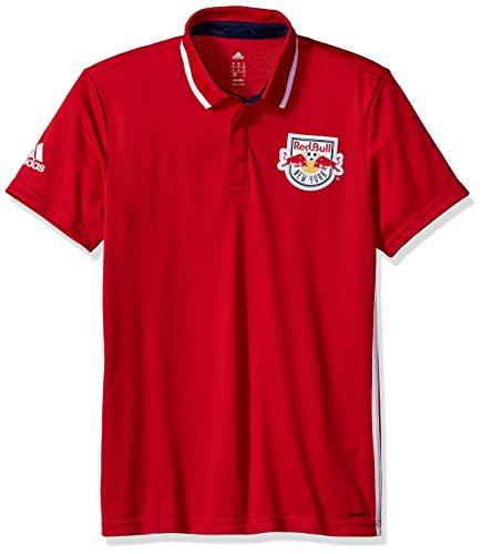 adidas MLS New York Red Bulls Men's Sideline Team Color Polo, Medium, Red (Shirt Polo Adidas Sideline)