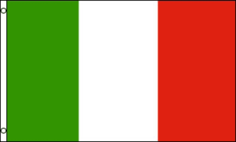 NYLON (NOT Polyester) Italy, 3'x5' NYLON 210D-S Flag With Clips