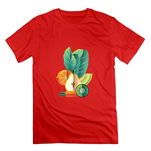 Believe Ddspp Fruit and Vegetable Cool Crew Neck Tshirt Slovenly Short Sleeves Cotton For Men's