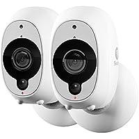 Swann 2 x 1080p Full HD Wireless Smart Security Camera, White