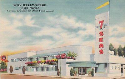 E6317 FL, Miami Seven Seas Restaurant Postcard