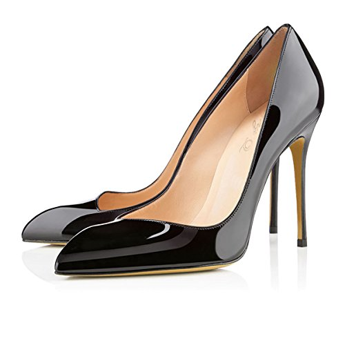Stiletto Une XUE amp; Talons Business Nude Work Talon Chaussures PU 38 Formal Taille B Soire Pointues Femmes Printemps Chaussures t Fte Robe Mariage Noir Couleur aa0zx7