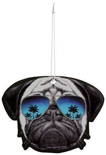 Pug With Sunglasses Air Freshener Auto Home Cool Mint - Sunglasses Pug With